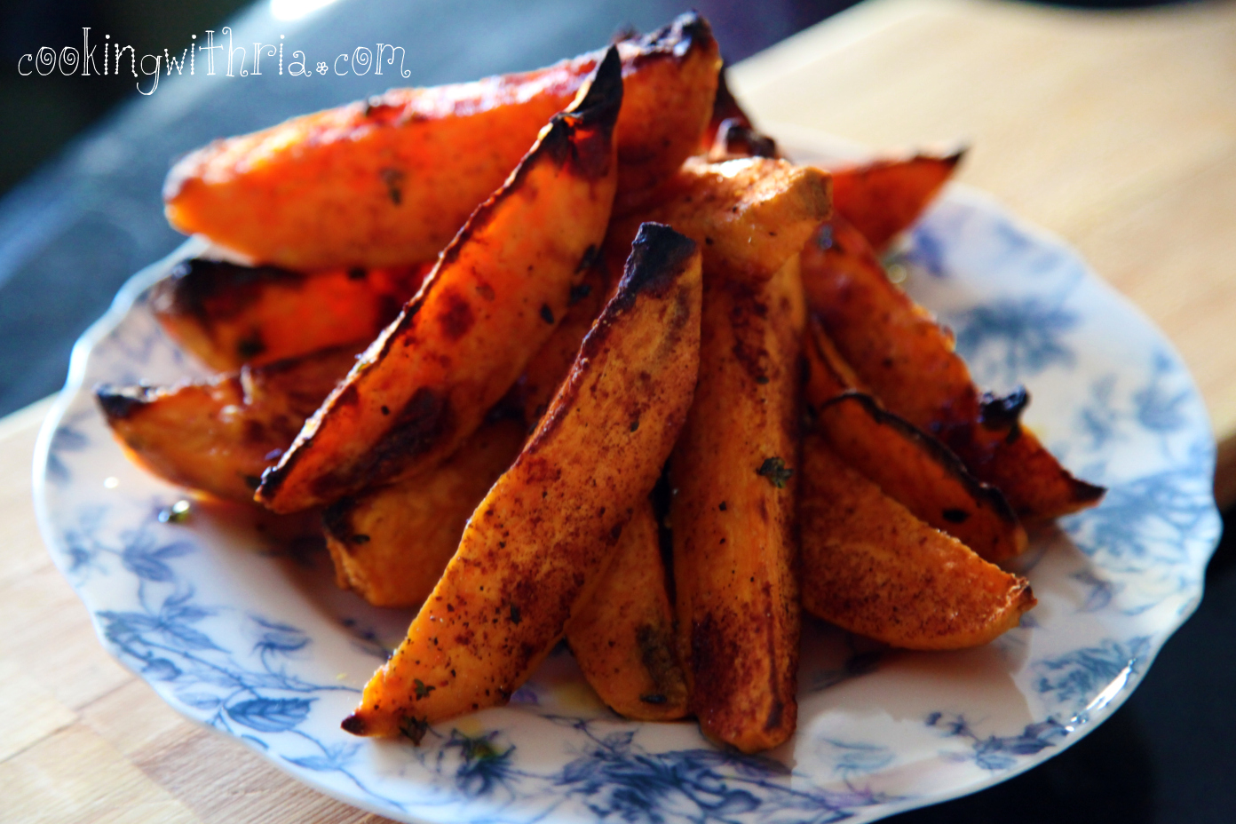 Oven Baked Sweet Potato Fries Cooking With Ria