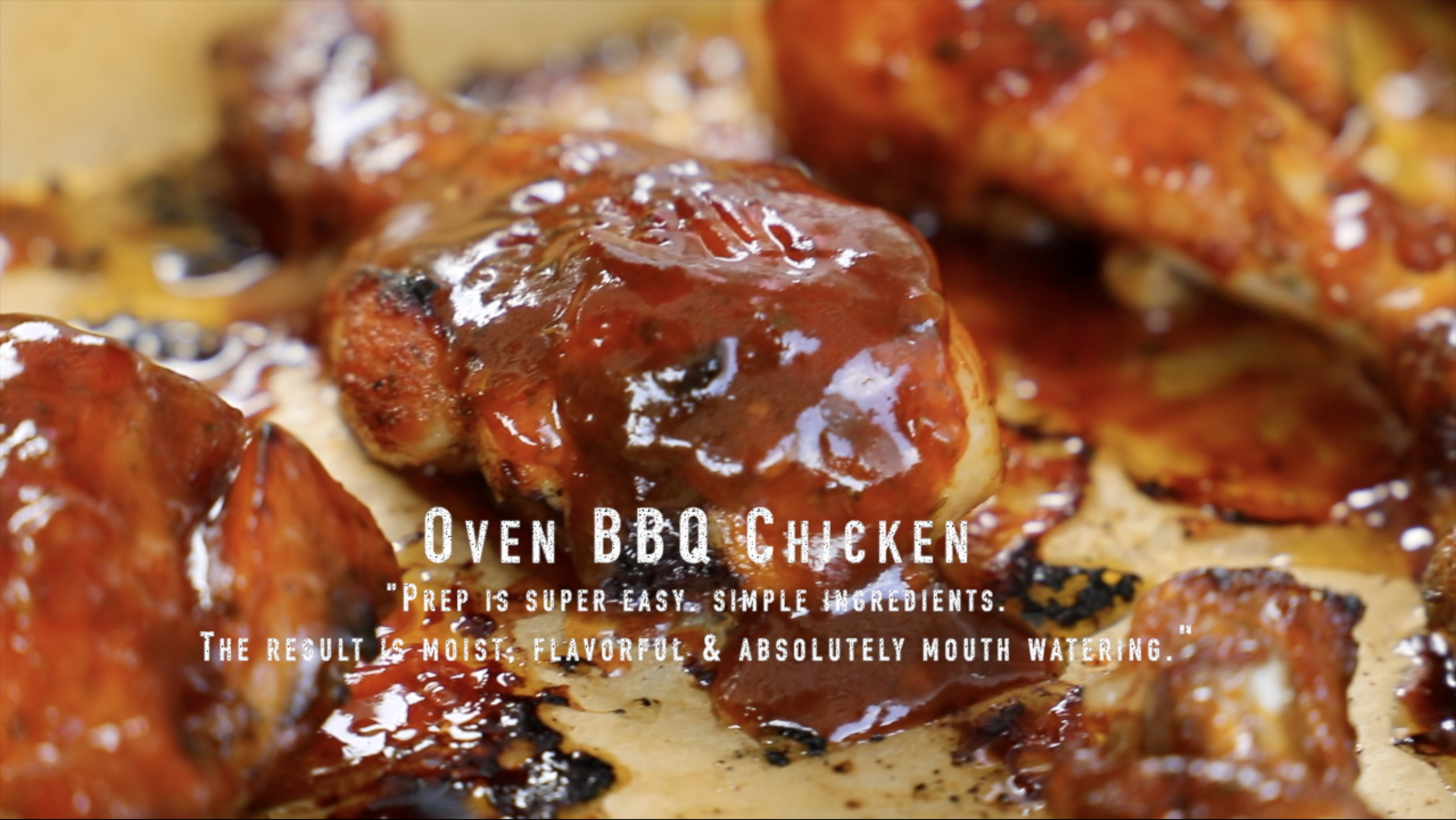 Oven Bbq Chicken With Ria S Homemade Bbq Sauce Recipes Cooking With Ria
