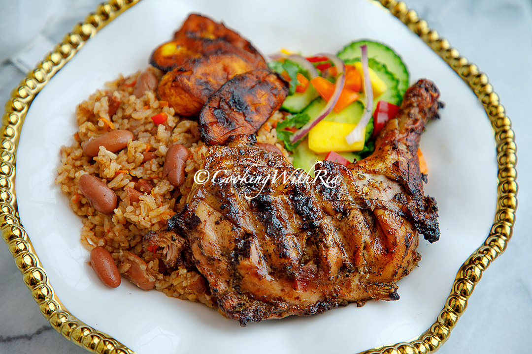 Jerk Chicken Recipe Oven Or Grill Method Cooking With Ria